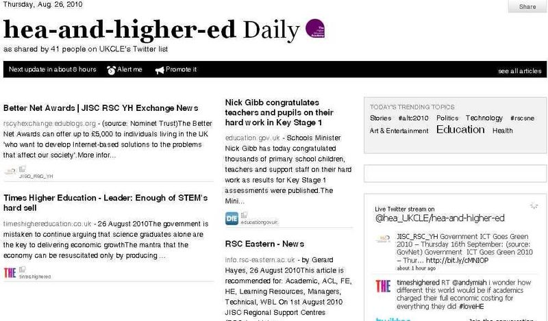 FireShot capture #092 - 'The Twitter hea-and-higher-ed Daily of UKCLE' - paper_li_HEA_UKCLE_hea-and-higher-ed